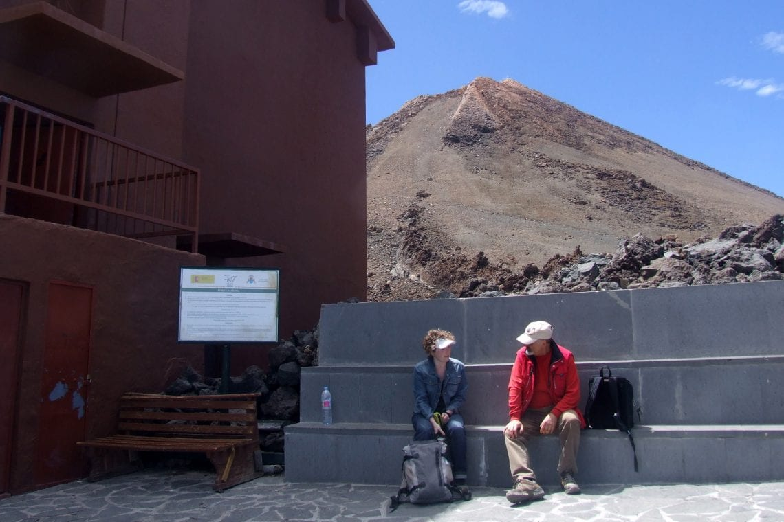 teide peak beyond the main cable car station