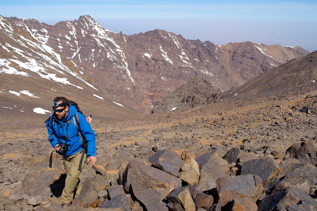 toubkal maz in the southern col