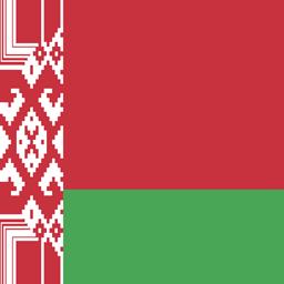belarus flag round icon 256