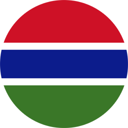 gambia flag round icon 256