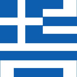 greece flag round icon 256