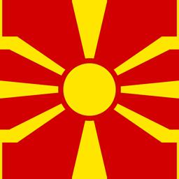 macedonia flag round icon 256