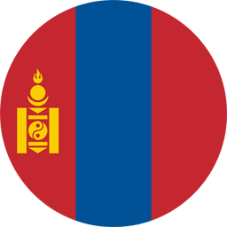 mongolia flag round icon 256