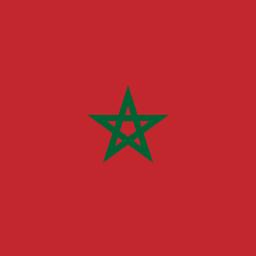 morocco flag round icon 256