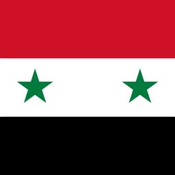 syria flag round icon 256