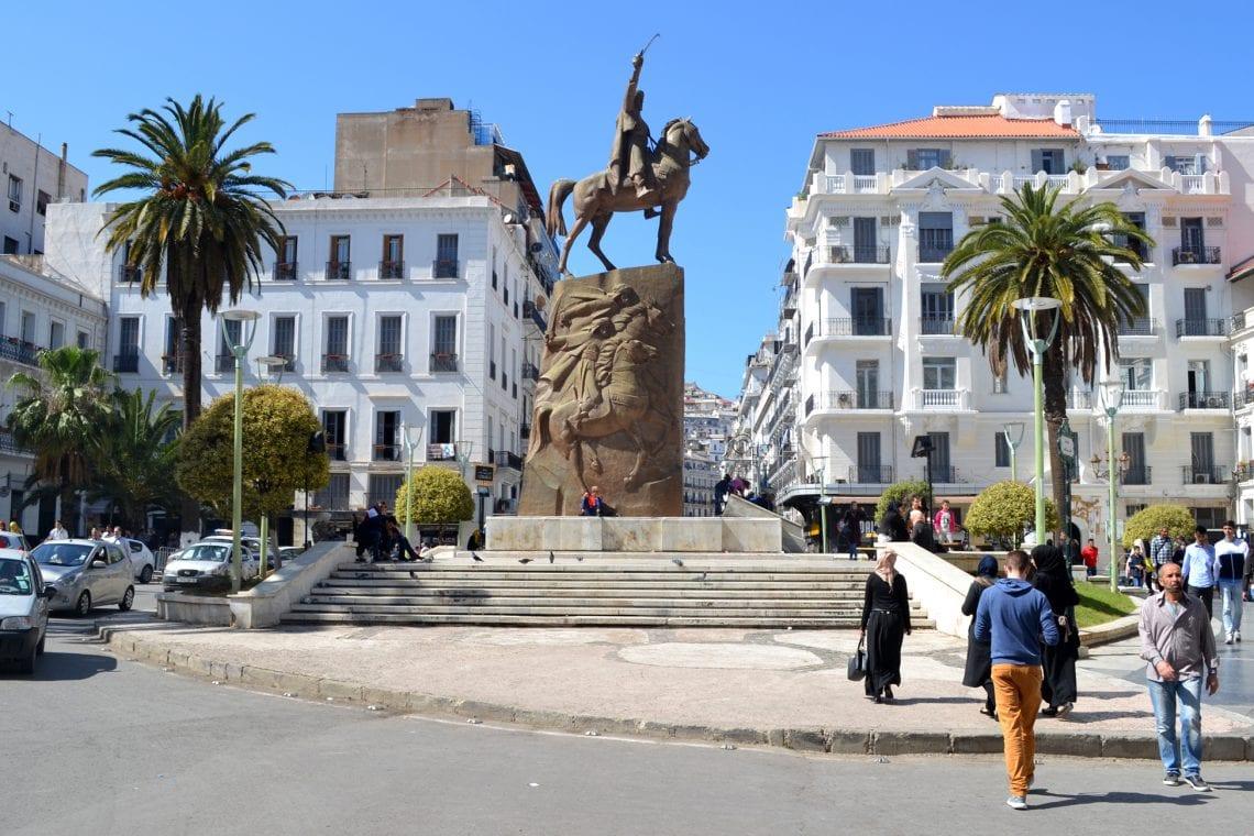 algiers statue as we walking towards the casbah