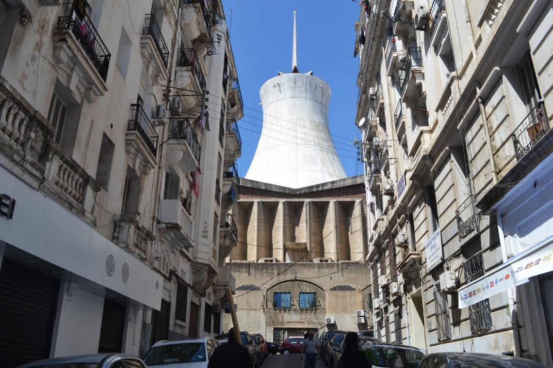 algiers the cathédrale du sacré cœur d'alger looks abit like a cooling tower