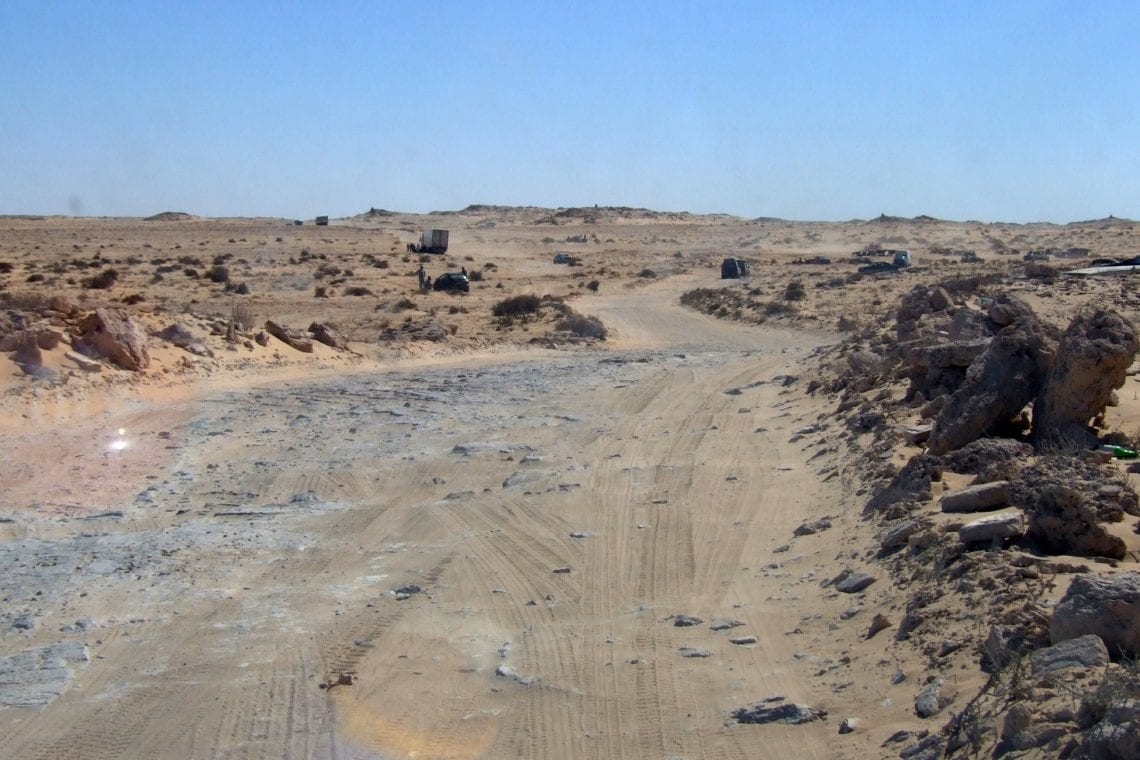 banjul challenge driving along the mine field track