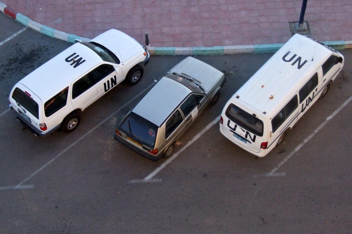 banjul challenge parking along with the un vans
