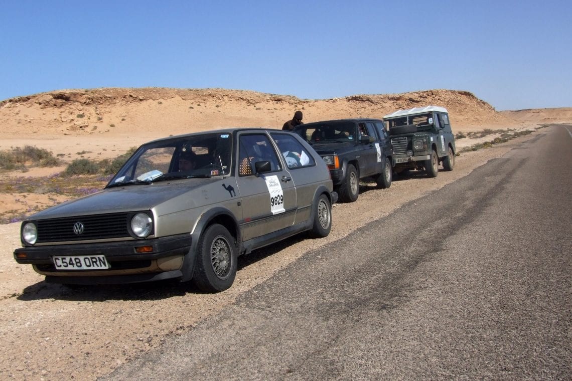 banjul challenge we are leading the convoy