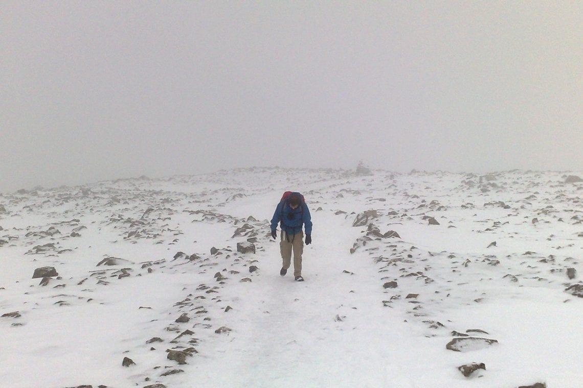 ben nevis maz struggling in the snow