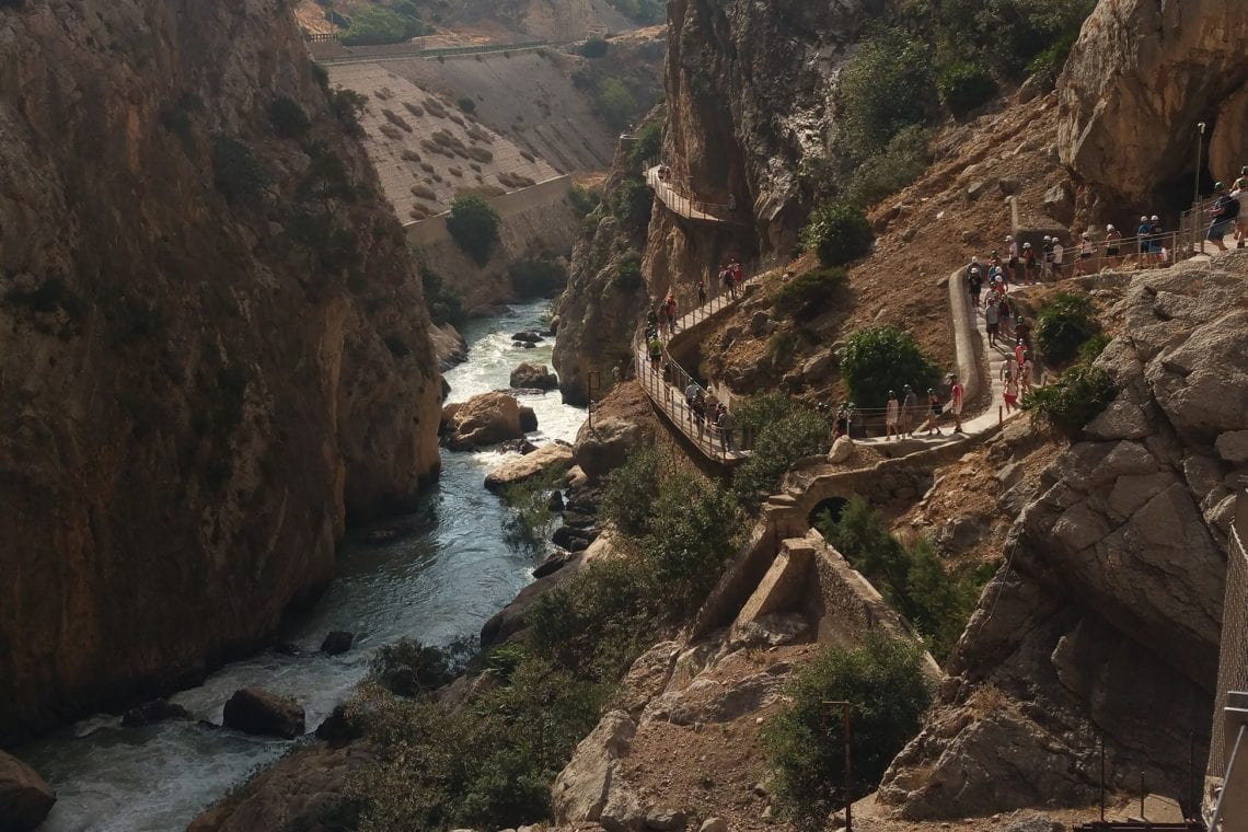 caminito del rey stairs by river