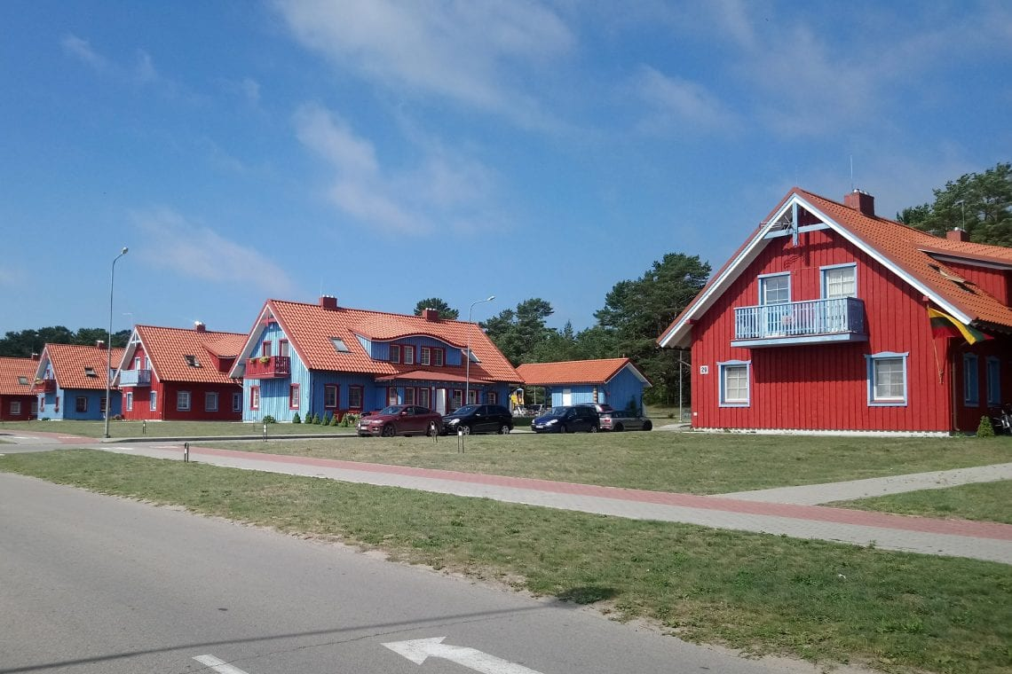 curonian spit typical houses along the spit