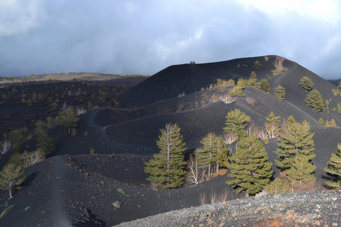 etna mounds of ash