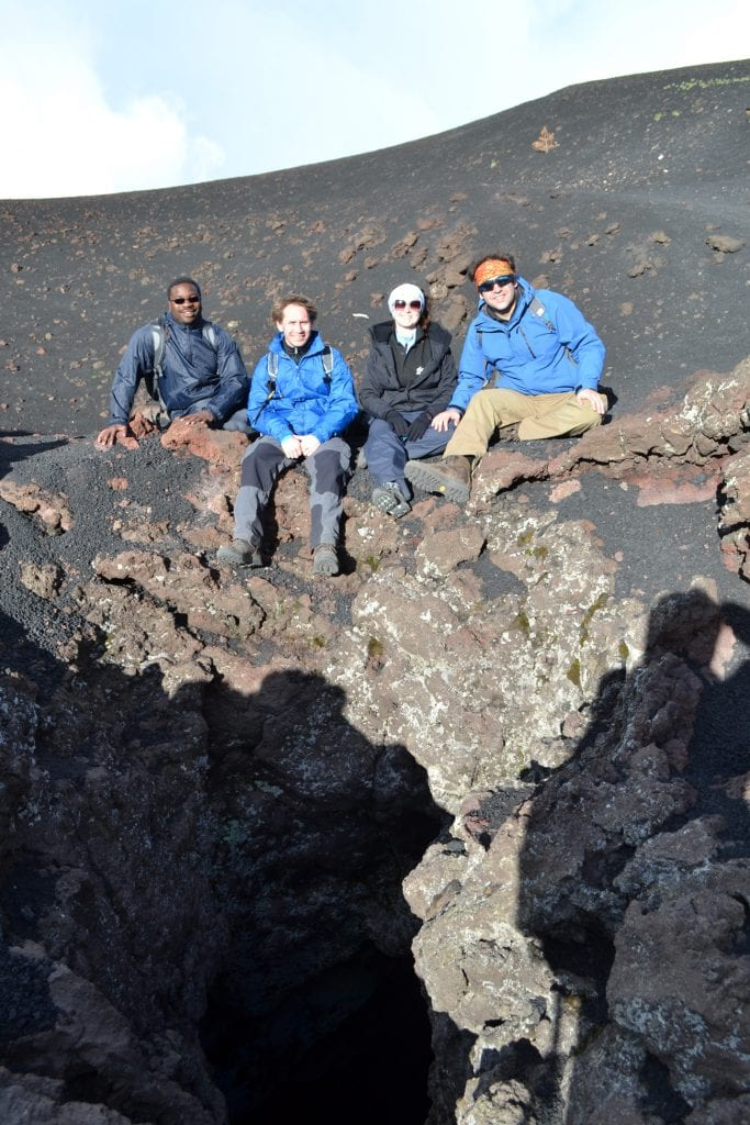 etna the gang sitting over volcanic vents