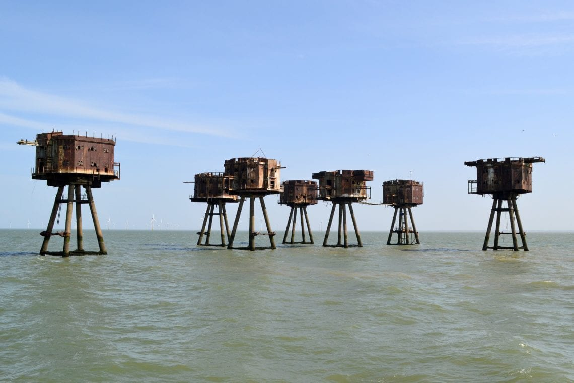 maunsell forts all seven towers at red sands fort