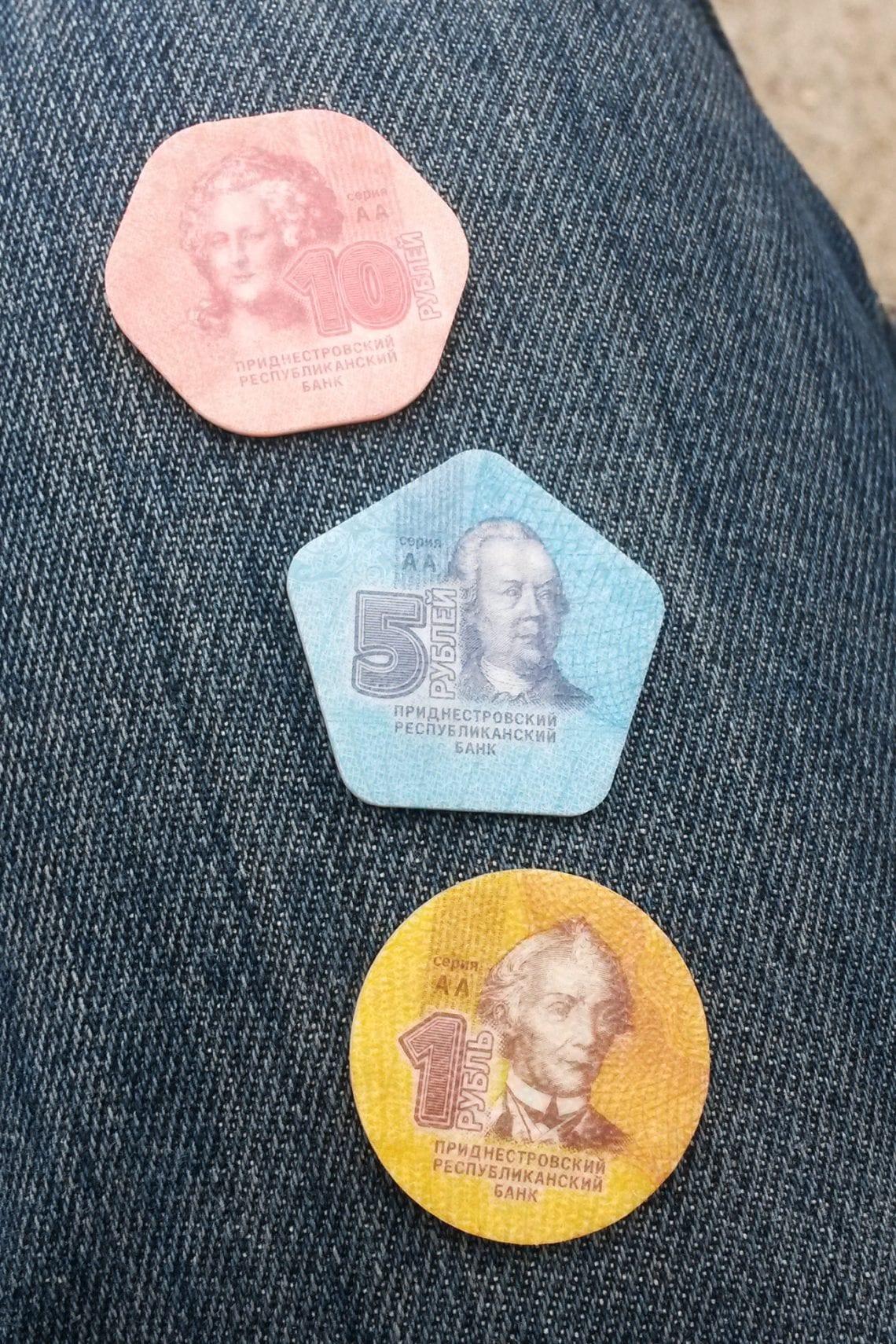 moldova plastic coins in transnistria