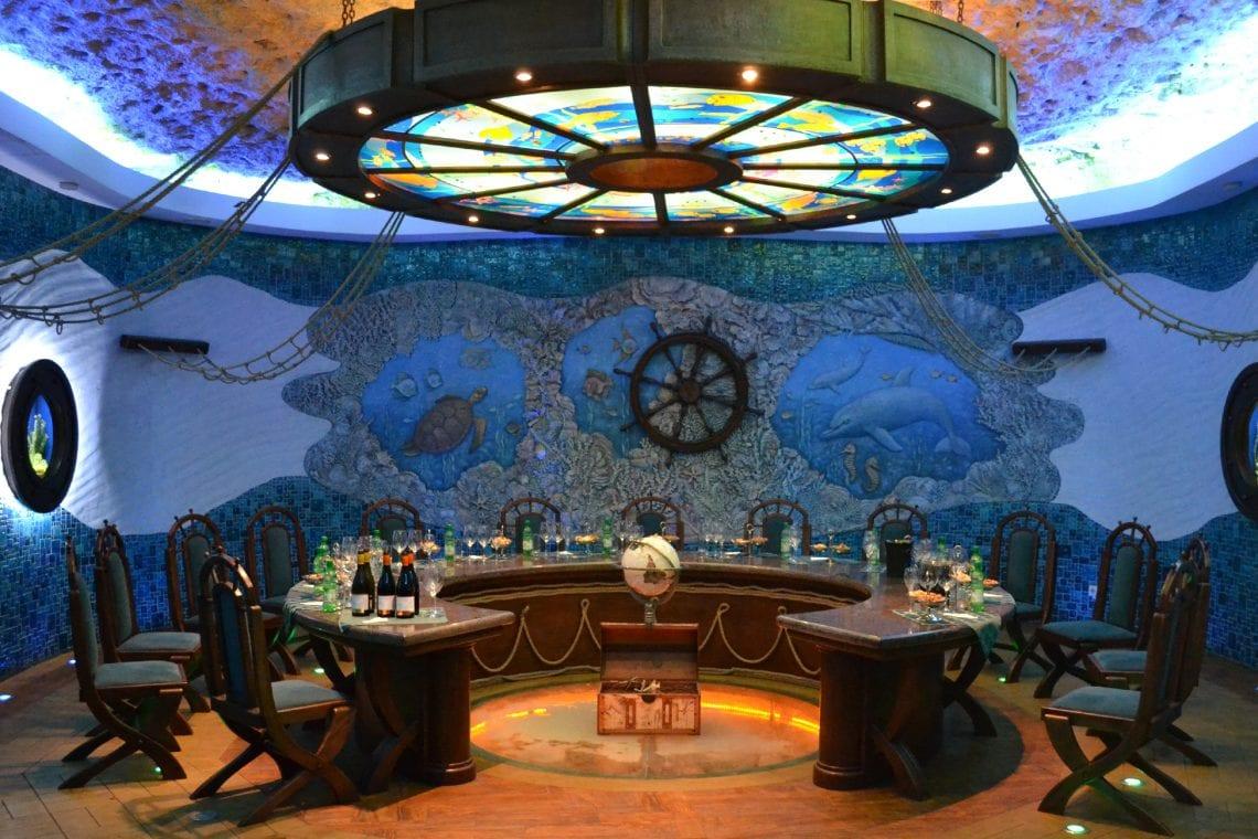 moldova one of the wine tasting rooms
