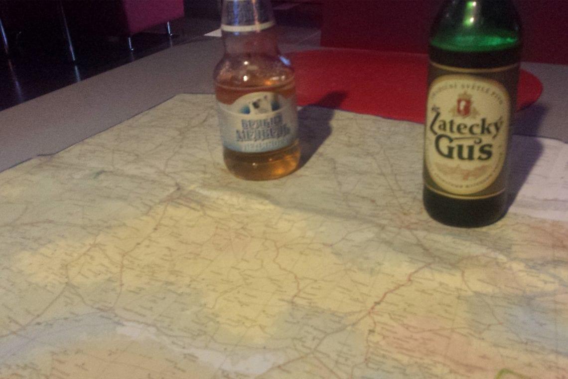 mongol rally beer and maps