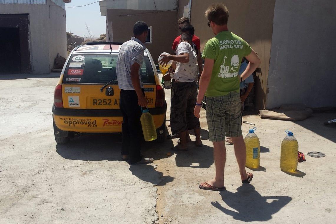 mongol rally buying petrol on the black market in uzbekistan again