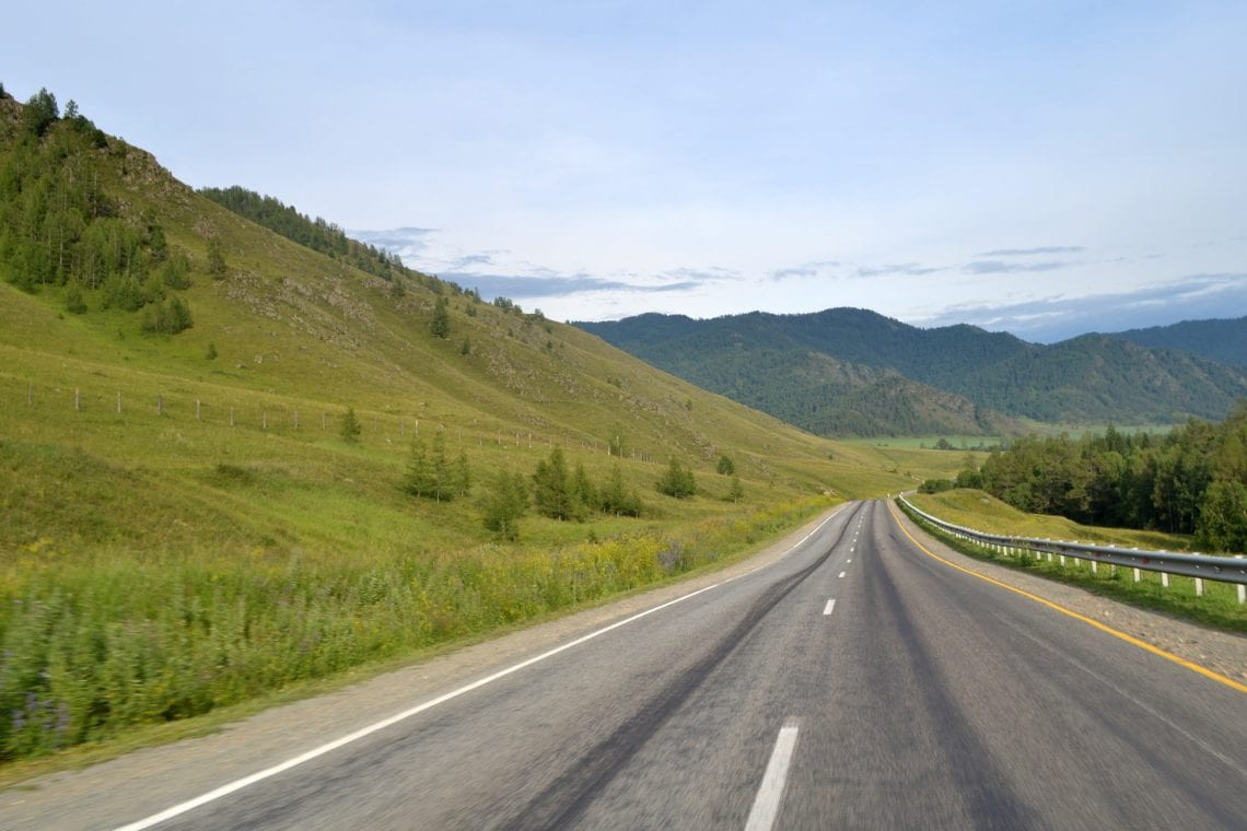 mongol rally driving in russia's alti region
