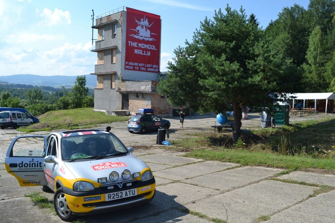mongol rally leaving the czechout party