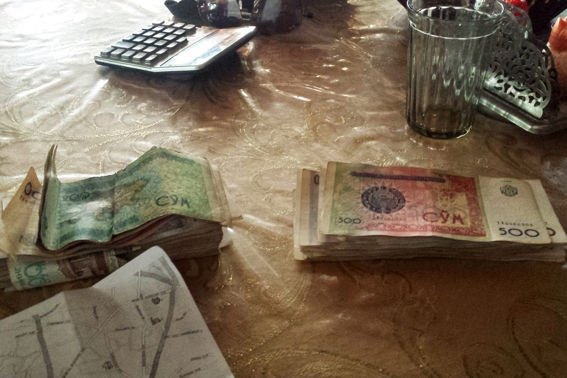 mongol rally loads of cash in usbeckistan
