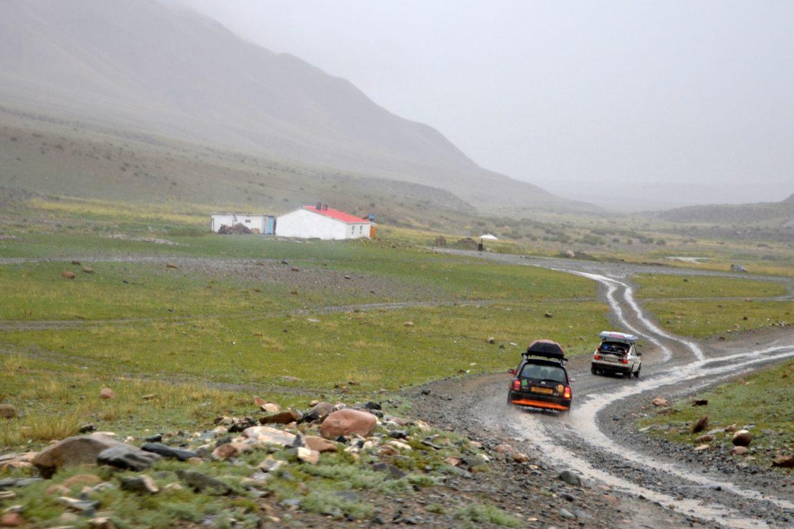 mongol rally lots of rain and bad roads