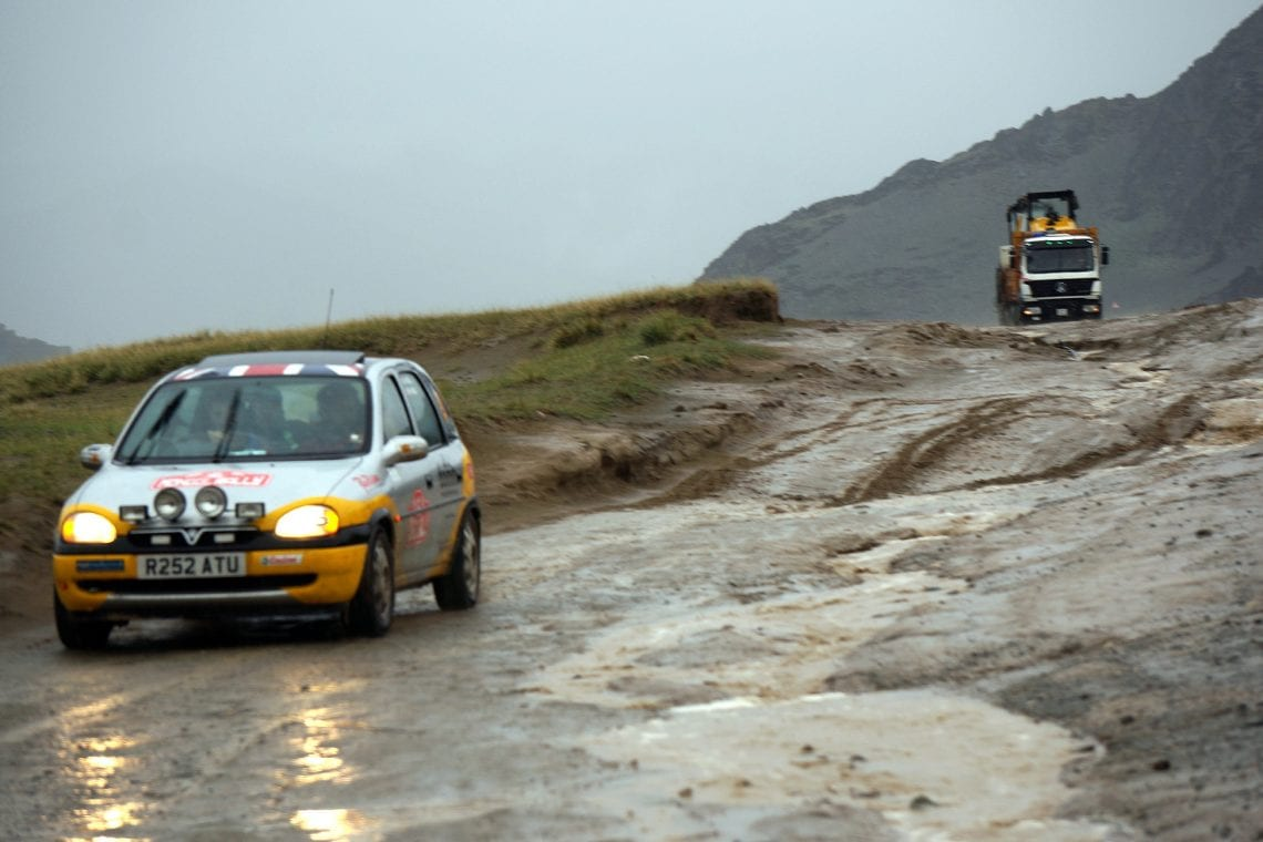 mongol rally really bad roads and bad weather in mongolia