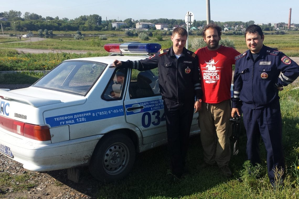 mongol rally saved by the russian police