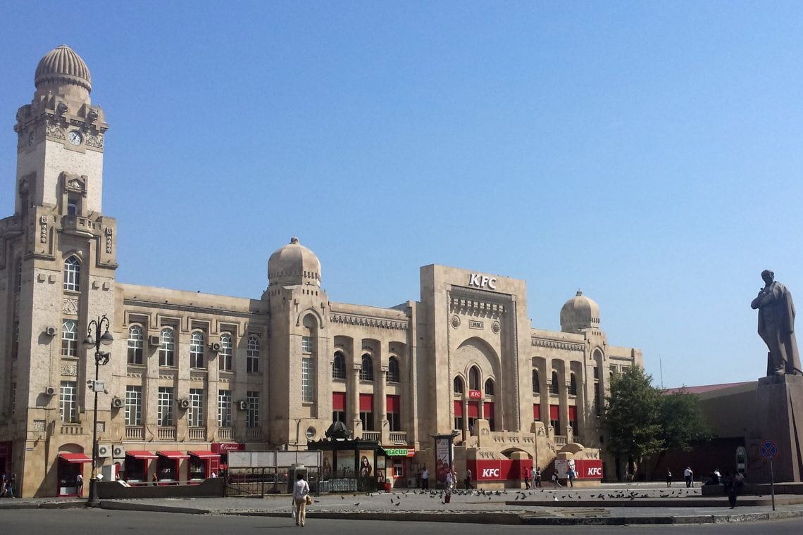 mongol rally the largest kfc in the world in baku
