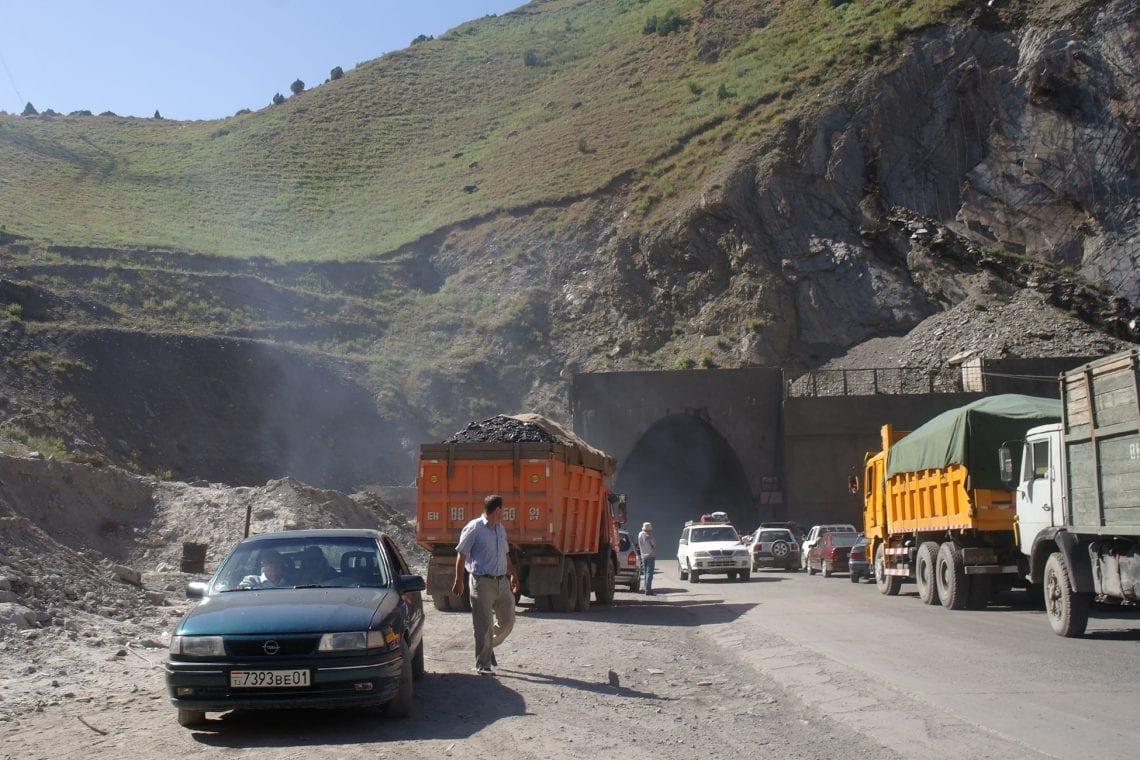 mongol rally the tunnel of death in tajikistan