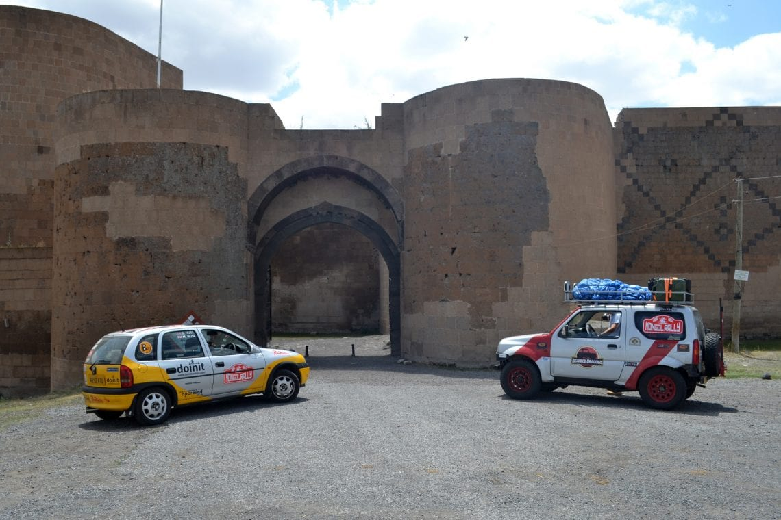 mongol rally visiting ani in turkey with the welsh lads