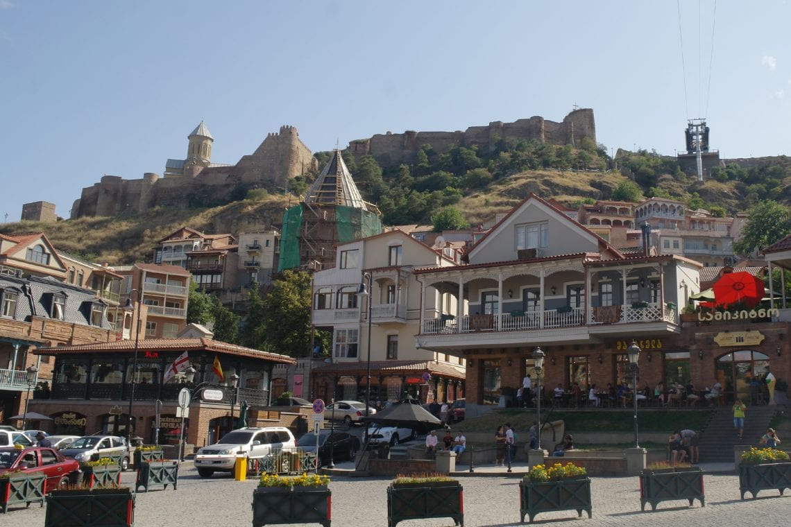 mongol rally wandering around central tbilisi