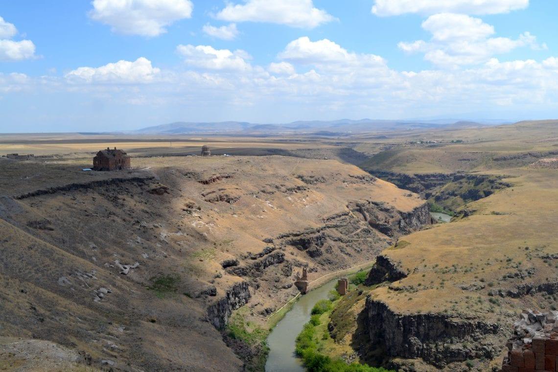 mongol rally wounderful landscape around ani