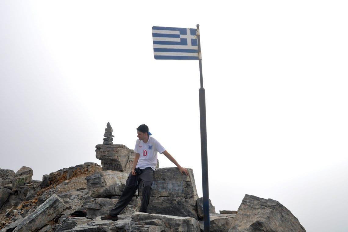 mt olympus dan at the summit of mt olympus