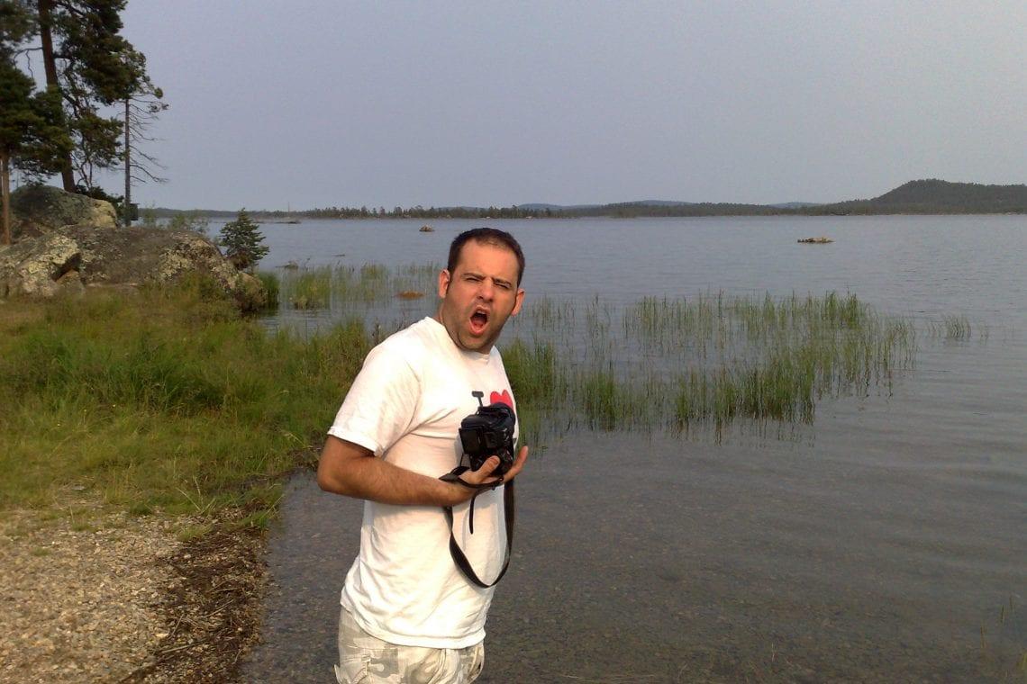murmansk challenge maz in the lake