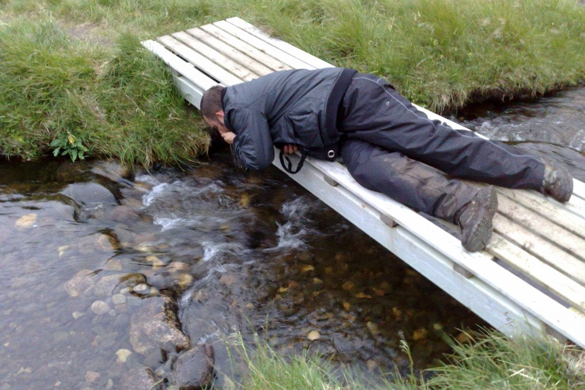 nordkapp maz taking in some water at the top of europe