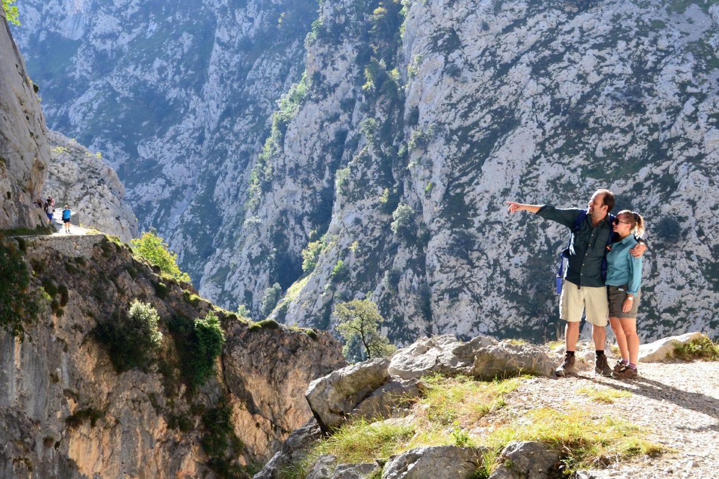 picos de europa maz and emma looking accross the gorge