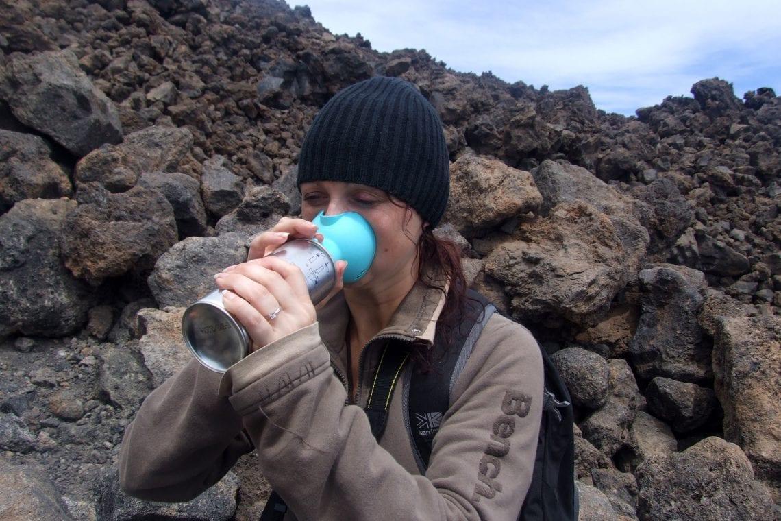 teide emma taking some oxygen
