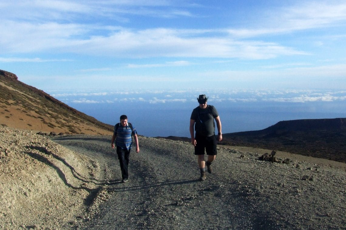 teide lee and owen above the clouds