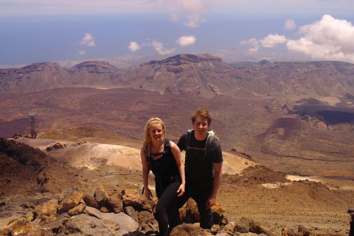 teide simon and hanna near the top
