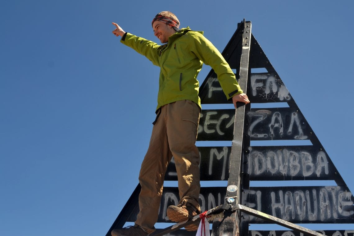 toubkal dan at the top of north africa