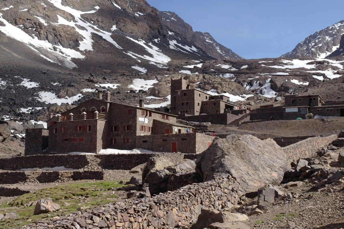 toubkal refuges in the valley