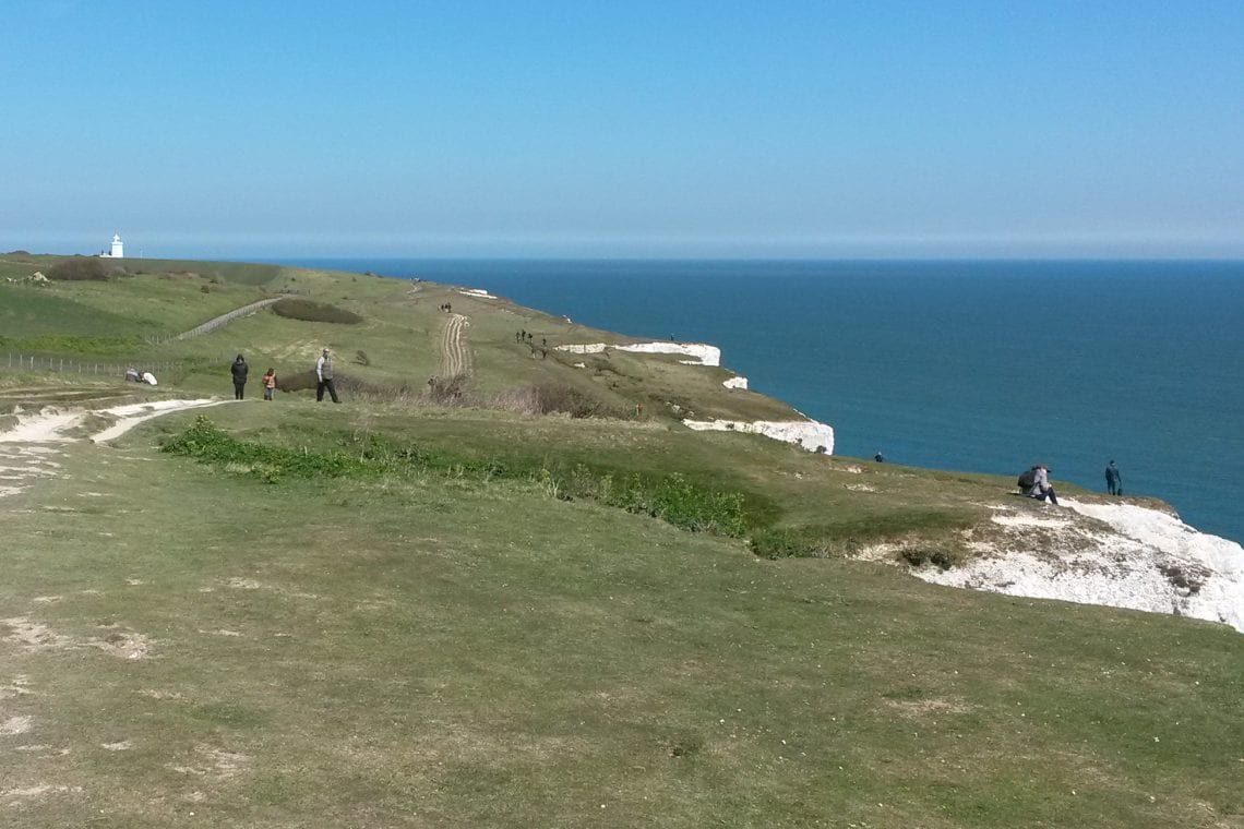 white cliff country dover to deal landscape