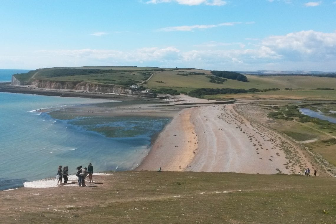 white cliff country the cuckmere haven ahead