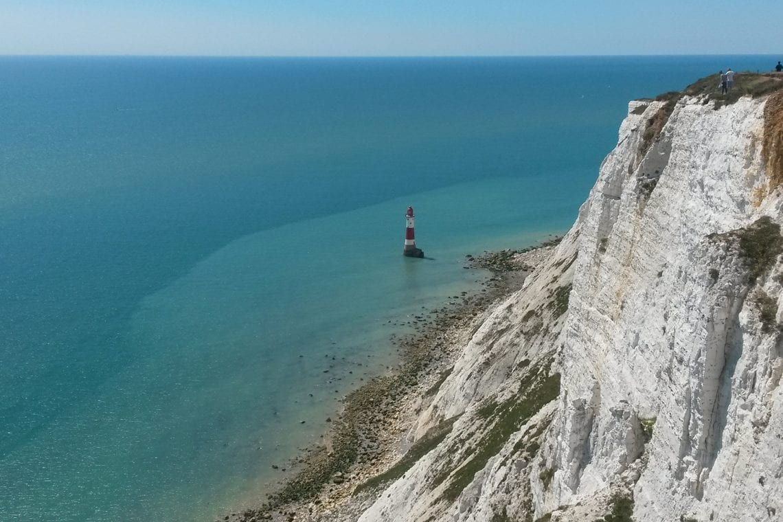 white cliff country the lighthouse at beachy head