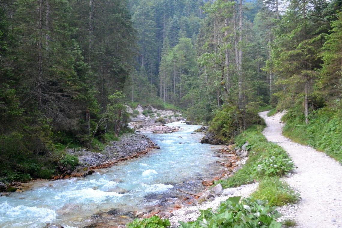 zugspitze stream running through the woods 2