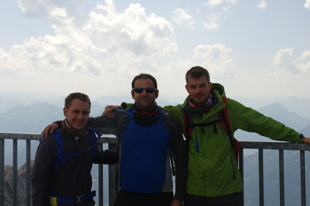 zugspitze the lads a the top