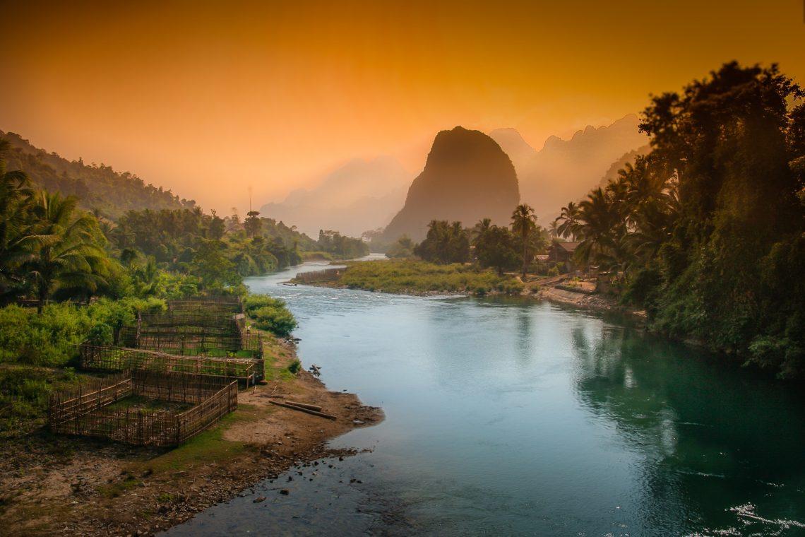 Lao karst mountains